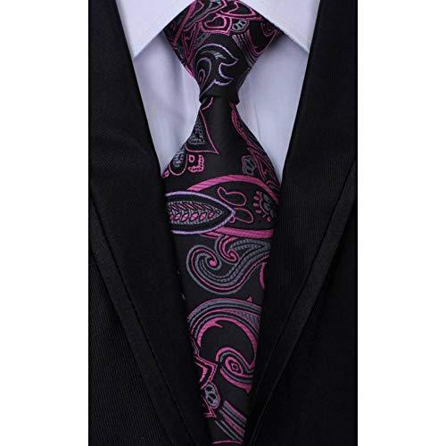 WOXHY Krawatte Hohe Qualität Paisley Jacquard Woven Silk Herren Krawatten Krawatte 8 cm Für Männer Formale Geschäfts Hochzeit -