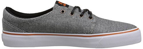 DC Shoes Trase Tx, Baskets mode homme Grey/Orange/Grey