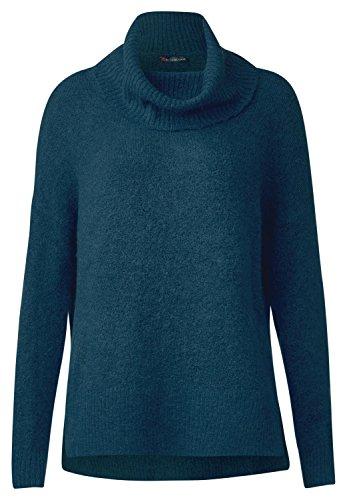 Street One Damen Lässiger Rollkragen Pullover pacific blue melange