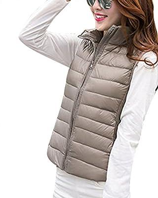 ZhuiKun Women's Down Gilet Coat Vest Ultra Light Weight Packable Puffer Jacket