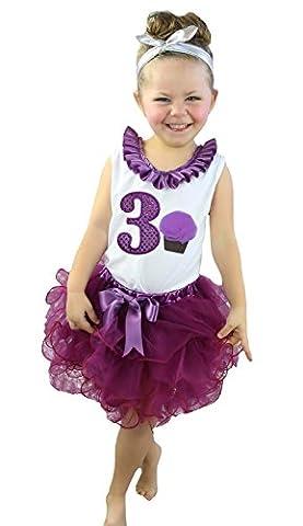 Robe d'anniversaire violet 3cupcakes pour femme Ensemble Jupe Pétale Rouge vin nb-8y - rouge - Taille Unique
