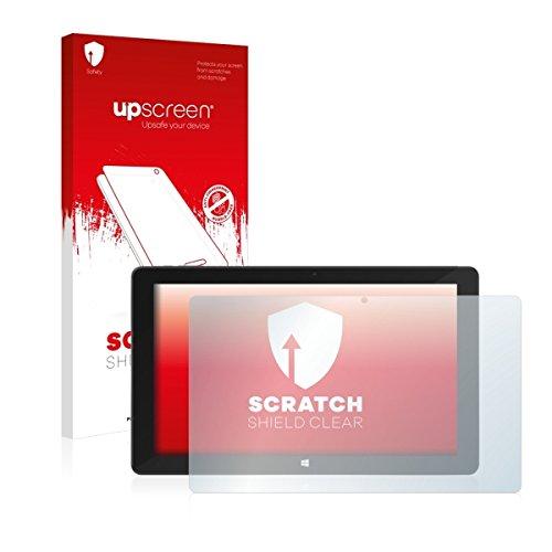 upscreen Scratch Shield Clear Bildschirmschutz Schutzfolie für TrekStor SurfTab Duo W3 (hochtransparent, hoher Kratzschutz)