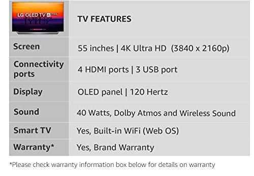 LG 139 Cm 55 Inches 4K Ultra HD Smart OLED TV OLED55C8PTA Black