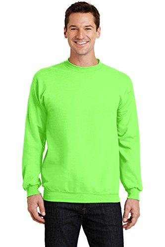 Port & Company® - Core Fleece Crewneck Sweatshirt. PC78 Neon Green L Fleece Crewneck Pullover