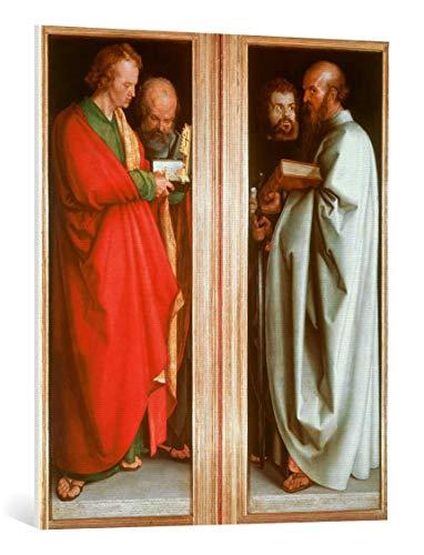 Kunst für Alle Cuadro en Lienzo: Albrecht Dürer The Four Apostles - Impresión artística, Lienzo en Bastidor, 75x90 cm