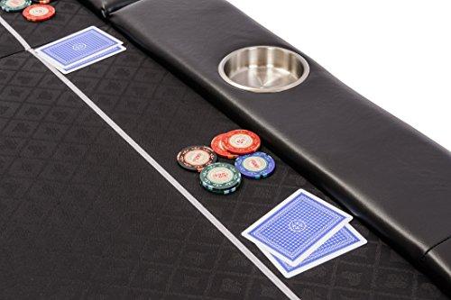 Riverboat Faltbare Pokerauflage mit Schwarzem wasserabweisenden Stoff und Tasche - Pokertisch 200cm - 5