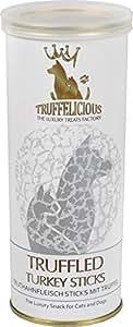 Truffelicious getrüffelte Truthahn Sticks/Premium Leckerli und Snack für Hunde und Katzen mit Trüffel/Wohlbefinden Magen-Darm-Trakt – Made in Germany/3er Pack (3 x 100 g)