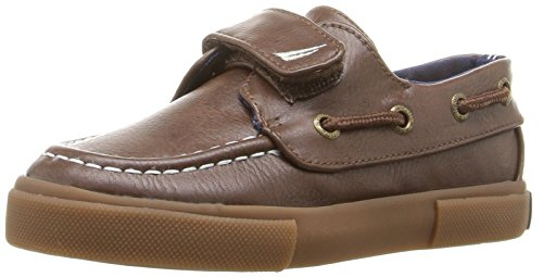Nautica Boys' Little River PU Toddler Boat Shoe, JRN. Brown Gum Outsole, 7 Medium US