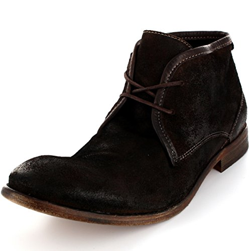 Herren H By Hudson Cruise Wildleder Schnüren Schuhe Knöchel Stiefel Schokolade