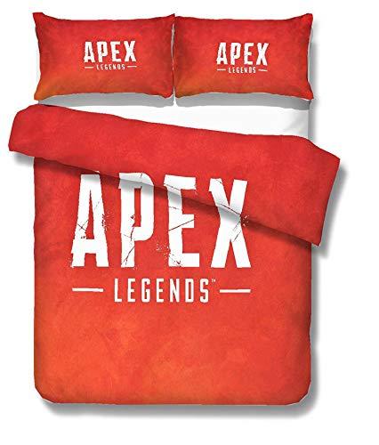 WMWZ APEX Legends Bettwäschesätze Bettbezugbezug Ultraweiche Mikrofaser-Bettbezüge mit leichtem, hypoallergenen Verschluss,A,Queen