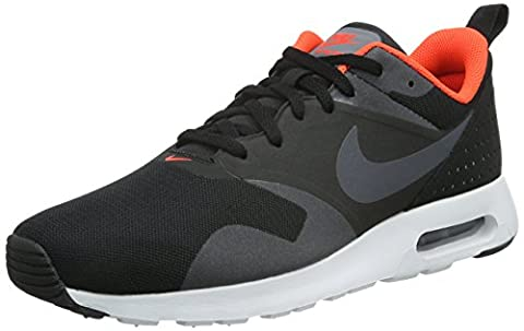 Nike Herren Air Max Tavas Low-Top, Schwarz (008 Black/Dark Grey-Ttl Crmsn-Wht), 45 EU