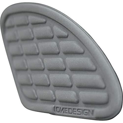 Print Motorrad-Tankpad Tankprotektoren seitlich Retro Bumps,Lederlook, Paar grau, Unisex, Multipurpose, Ganzjährig, Lederimitat