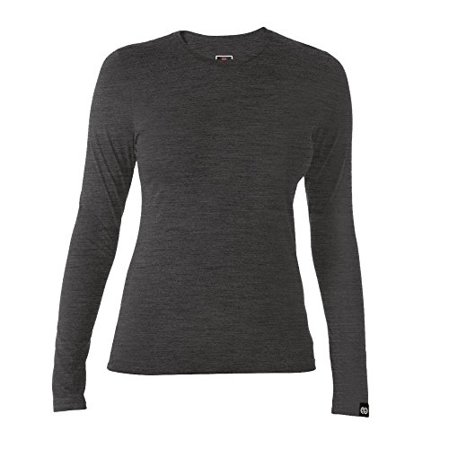 Rewoolution Berry, T-Shirt Damen S Holzkohle -