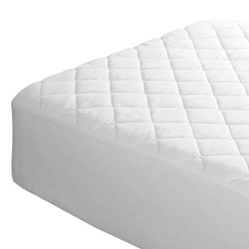 Imagen para AAF TEXTILES Protector Acolchado de colchón Decoración Tapa Muy Profundo - Blanco, Small Double 4ft