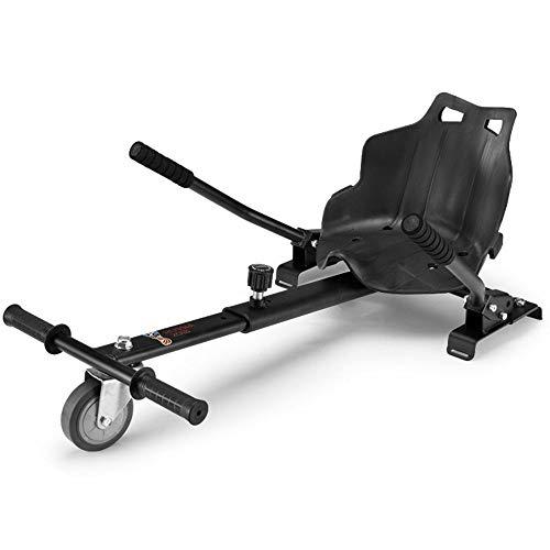 LMEI-HBSITZ Einstellbarer Hoverboard Sitz, Elektrischer Hovercart-Kartsitz, Passend FüR Alle Hoverboard-Balanced-Roller (6,5-10 Zoll) / Universell FüR Kinder Und Erwachsene,Black