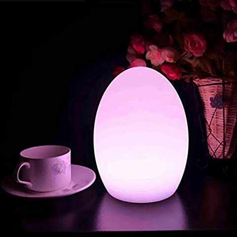 Magic Mood Light Night Light Retro Light Decorative Light Color Changing Lamp Dimmable Waterproof RGB Light Rechargeable Egg Lamp with Remote Control for Coffee Bar Spa Restaurant Hotel Gifts