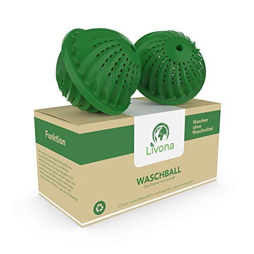 Original Livona® Waschball - Öko Waschkugel - Waschen ohne Waschmittel ♻ nachhaltig & umweltfreundlich ♻ Vorteilspack - höchster Qualitätsanspruch für Allergiker, Kinder und Umweltbewusste