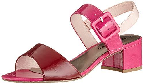 Tamaris 1-1-28211-22 Sandali con Cinturino alla Caviglia Donna, Rosa (Fuxia Comb 505) 41 EU