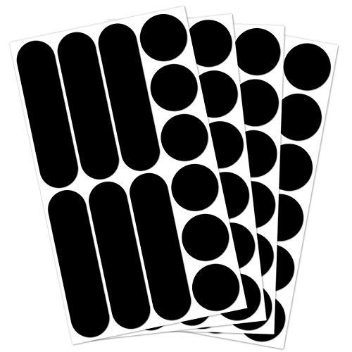 B REFLECTIVE, (4 Pack) 12 Stück Kit universal Retro reflektierende Aufkleber, Nacht Sicherheit Signalisierung Klebeband Reflektor, für Fahrra/Kinderwagen/ Motorradhelme/Motorrad/ Spielzeug, Schwarz