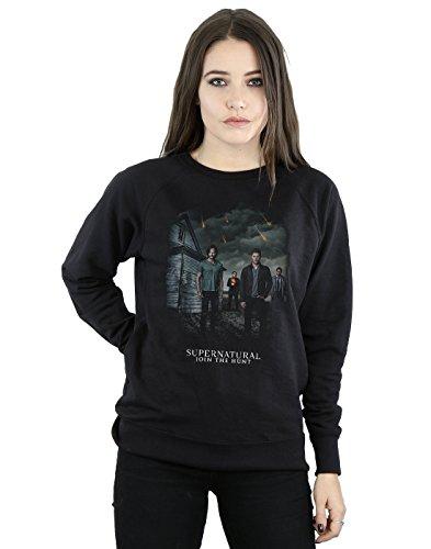 Supernatural Damen Meteor Shower Sweatshirt Small Schwarz