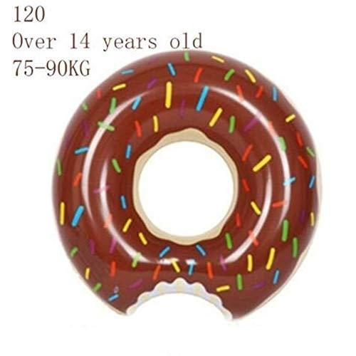 LABAICAI Rooxin Aufblasbare Donut Schwimmring for Pool Float Matratze Schwimmbad Verdickt PVC Sommer Schwimmring Sitz Spielzeug (Color : Green)