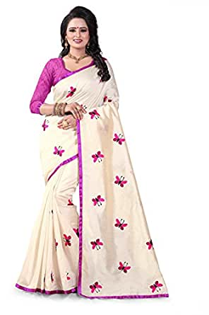 Expert E-Commerce Services Cotton Silk Saree With Blouse Piece ( Ees-828-Pink,Off-White,Free Size)
