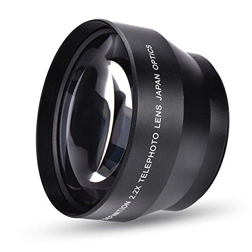 VBESTLIFE 2.2X Universal Telekonverter Teleobjektiv DSLR Kameras Zubehör,passend für alle Kameras mit 67 mm Montage.