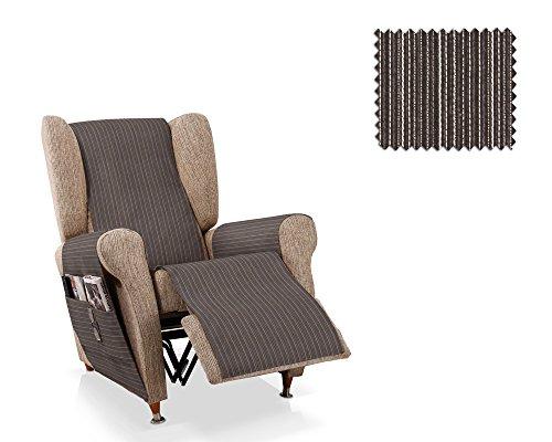JM Textil Sessel-Schoner Relax Rino Größe 1 Sitzer (55cm), Farbe 16 Schwarz