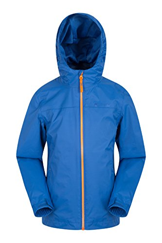 Mountain Warehouse Torrent Kids Waterproof Jacket - Taped Seams Rain Coat, Zipped Pockets Childrens Jacket, Adjustable Features Summer Coat -Ideal for Summer Travelling