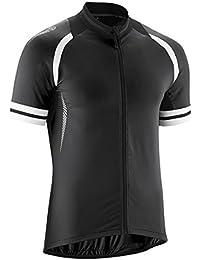 Übergrößen Gonso Rad-Trikot Dean schwarz-weiß