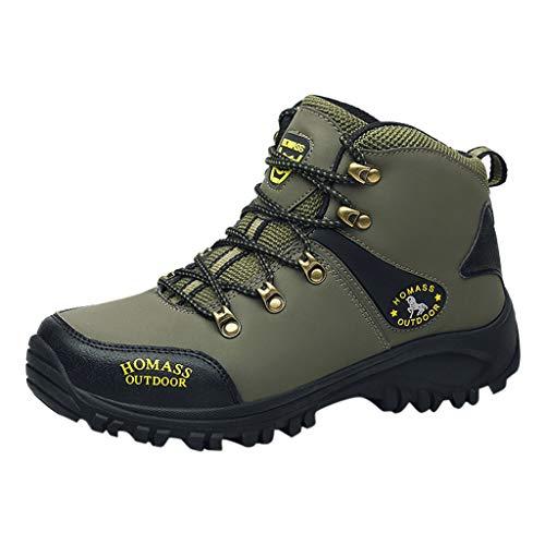 HDUFGJ Herren Trekking-& Wanderhalbschuhe rutschfeste Atmungsaktiv Outdoor-Schuhe Verschleißfest Laufschuhe Wasserdicht Freizeitschuhe Leichtgewicht Turnschuhe fitnessschuhe42(Armee grün)