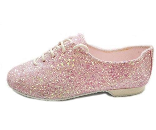 Jazz Shoe Pink Glitter Rubber Sole EU 42, UK Ad 9