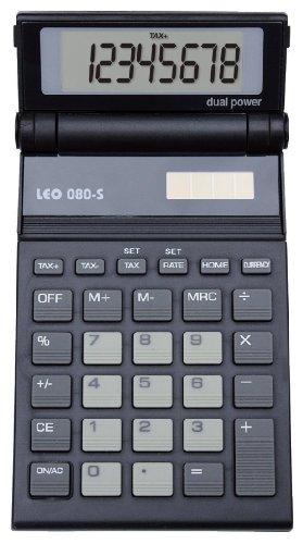 LEO 080S Solar-Taschenrechner anthrazit, 8-stellig