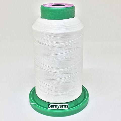 Isacord Machine Embroidery Thread No.40 1000m Cone WHITE