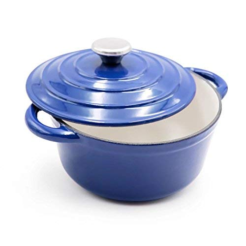 Emaille Gusseisen Dutch Oven - Rund French Ofen 5-quart Cobalt, AIDEA fein 3 Quart kobalt 5 Quart Dutch Oven
