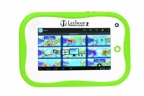 Lexibook MFC280DE Mein erstes Android-Tablet, Ausgereifte Kindersicherung, Interaktiver Lerninhalt, Kinderfreundliche Benutzeroberfläche, Grün