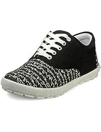 Juan David Men's Black Canvas Casual Shoes (152) - 9 UK