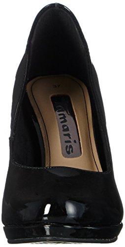 Tamaris - 22448, Scarpe con plateau Donna Nero (Nero (Black Patent 018))