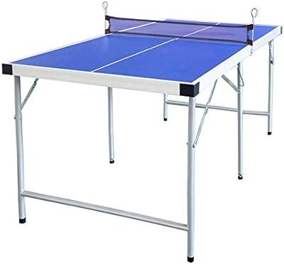HLC Mesa de Ping Pong plegablede para niños 154*77*69 CM,color azul