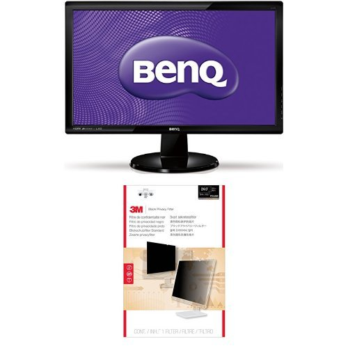 Price comparison product image BenQ GL2450HM LED TN 24-inch Widescreen Multimedia Monitor and 3M Privacy Filter