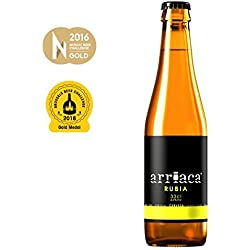 Cerveza Artesanal ARRIACA RUBIA (24 botellas x 33cl)