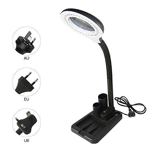 Lámpara de mesa flexible de luz de la lámpara de lectura de ojos Oficina de Protección ligero plegable con diseño de lente de aumento carrito de equipaje,PLUG IN