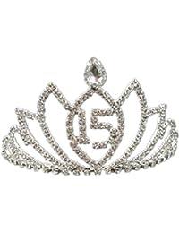 Los Niños De Las Mujeres De Las Muchachas De La Joyería De La Cabeza De Cristal Tiara De La Corona De Loto Diadema 15 Cumpleaños