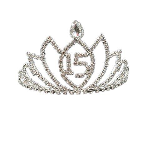 Kinder Frauen Mädchen 15 Geburtstag Tiara Kristall Lotus Krone Stirnband Kopfschmuck