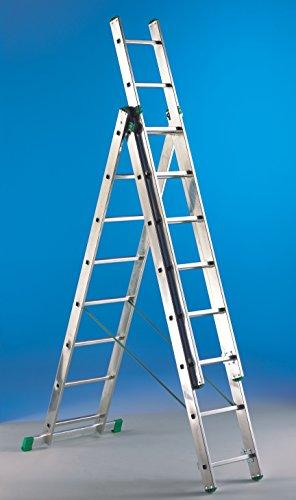 Svelt scala u3 universal 3x7 - scala ribordata in alluminio per uso professionale, domestico e