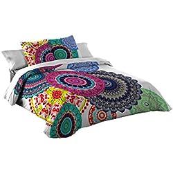 Funda nórdica Algodón con Mandalas de colores (Para cama de 90x190/200 (Nórdico de 150)