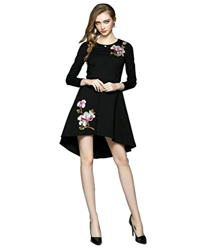 Black Georgette Embroidered Stitched Designer Kurti  available at amazon for Rs.449