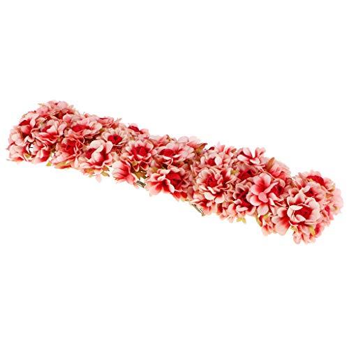 JINQD Home Draht Stem Plum Blossom Blume Hochzeit Haarspange Kranz Corsage DIY Crafts - Rot 60x