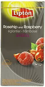 Lipton Rosehip and Raspberry 25 Teabags (Pack of 6, Total 150 Teabags)