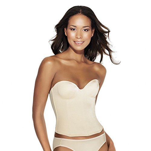 5b57007382544 Dominique 8541 Nude Longline Smooth Strapless Low Back Backless Bra ...